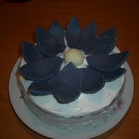 "A Flower For My Mother this is my second cake for my mom-the best mom in the world!Her name is Viorica which means ""violet"" so i made her a flower-cake..."