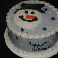 Snowman I did this cake for my husband to take to work. He gave me only a few hours notice . Thankfully I took inspiration from amycakes2. Yellow...