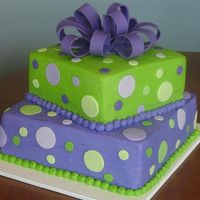 Polkadot Palooza I did this cake for a 13 year old girl. Her room is decorated in lime green and purple polkadots and she wanted her birthday cake to match...
