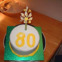 80Th Cake This was my first ever attempt to do a cake. This was even before istarted going to classes... Well my Grandad was impressed lol!