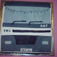 Deks 40Th I made this for a friends 40th. He's a truck driver.