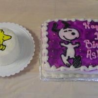 My Woodstock Cake And A Snoopy Cake Made By My Aunt The woodstock smash cake was made by me and the snoopy cake was made by my aunt. Both cakes were for my daughters 1st birthday party. They...