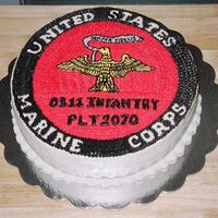"Usmc  This baby was one of my first ""character cakes"", so to speak. My blood pressure was sky high, I can tell you that much! Chocolate..."