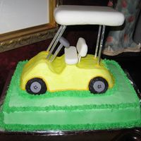 Golf Cart  Bit of a nail biter-second marriage for slightly older couple-they use a golf cart at their 2nd home to go nearly everywhere-butter cream...