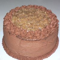 German Chocolate Cake One of my best friends love German Chocolate Cake and it was her birhtday!