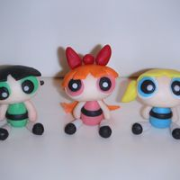 Powerpuff Girls   Figures made from fondant