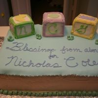 Baby Blocks Shower Cake I should have listened to all of you who said blocks were too hard to do. I will NEVER do them again! This was for a student who was having...
