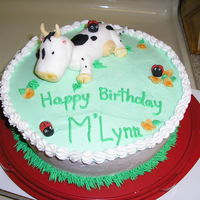 Have A Cow! Chocolate cake with buttercream. My first cow! I got my inspiration from aine2. She is the BEST! All accents are made of fondant. This was...
