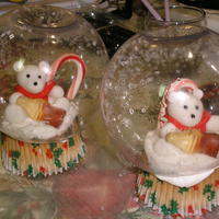 "Christmas Snoglobe Cupcakes I saw this adorable design on Cake Wrecks. It was submitted by the artist that runs the ""Bakearella"" blog! Her work is amazing. I..."