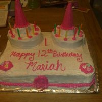 Birthday Cake  i made this cake for my neice's 12th birthday. She likes devils food cake, so thats what i made. I used sugar cones bought from the...