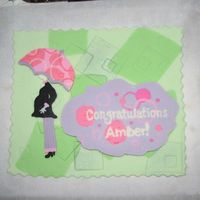 Baby Shower Umbrella Topper To Match Party Ware Costco cake topper make to match popluar partyware. Base made of fondant, embedded in several shades of green and the woman and umbrella...