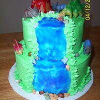 Dinosaur Cake This was done for a 4 yr old boy.