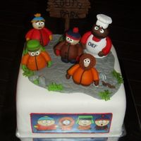 Southpark this is a birthdaycake for my son.Today he's 14.