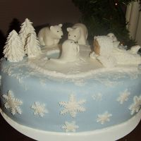 Snowbabiecake i collect snowbabies and i tried to make them for a cake.merry christmas from holland