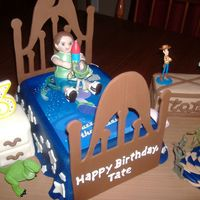 Tate's Toy Story Birthday I made this for my grandson who turned 3 yesterday. He's totally into Toy Story, especially Woody and Buzz. The bed, toy box and night...