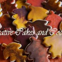 Autumn Leaves Sugar cookies with Toba's glaze.