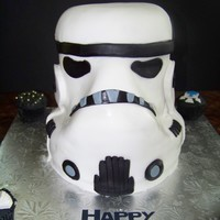 Storm Trooper Helmet 3-D Storm Trooper helmet made for a boy's birthday. Thanks for looking!