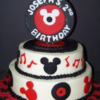 Rock N Roll Mickey Mickey themed cake with a rock n roll twist!