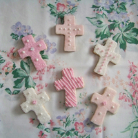 Communion Cookies sugar cookies w/ mmf decoration and edible pearls