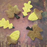 Fall Leaves Sugar cookies with fondant decoration