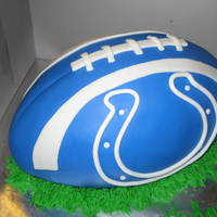 Colts Football MMF covered cake done for colts game/ birthday for two young boys.