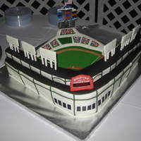 Wrigley Field Wrigley field grooms cake. My first field cake. Much harder than I imagined. The sign on the front of the cake is a scrolling sign that had...
