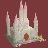 Castle Cake This is my first castle cake & stacked cake!! I had quite a bit of trouble with the BC crusting for the impression mat, but it...