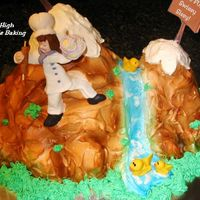 Have Fun Pastrypuffgirl! Alp 1 is a Chocolate cake with peanut butter mousse and whipped cream icing. Pastrypuffgirl is out of fondant as is the ducks. The smaller...