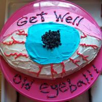Get Well Eyeball. I used my Wilton football pan for this.