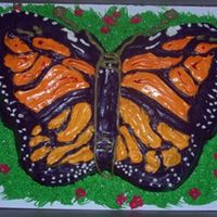 Butterfly Cake Butterfly cake...cinnamon swirl with cream cheese icing.