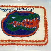 Gator's Cake This was for a Gator Fan, who lives in TN. But I did it anyway.