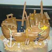 Sunken Pirate Ship The birthday boy wanted a sunken pirate ship-- this is the best I could do!