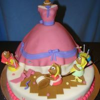 Makenzies Cinderella Cake My daughter Loves Cinderella- and anything princess for that matter-- so this was her 3rd birthday cake! SHe loved it