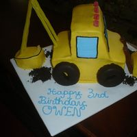 Digger This was for my son, who insisted on a digger cake for his birthday!