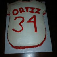 Sox Jersey This was a last minute cake for my brother in law's birthday. Thanks to arosstx for the design idea!!