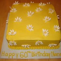 "Daisy Cake This was for a friend's mom. It is butter cream with fondant flowers. I was really nervous making a ""grown up"" cake but I..."