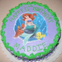 Little Mermaid Cake Very easy cake, Ariel is an edible image.