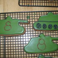 Army Tank Cookies These were NFSC with royal for my twin nephew's army themed party. I had a lot of trouble finding inspiration for these so I kind of...