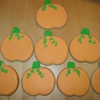 Pumpkin Cookies These are NFSC with Antonia's royal icing I made for a preschool Halloween party.