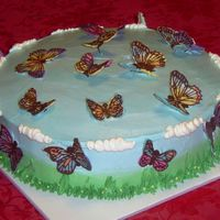 Butterflies This girl loves butterflies and wanted as many as possible on her birthday cake.