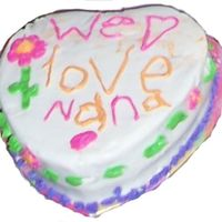 Daughter's Cake For Nana   I think my daughter was 6 when she did this.