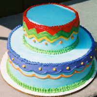 Fiesta Made for a mexican fiesta. Lots of color all in buttercream.