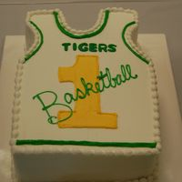 Basketball Jersey This was one of the six cakes I made for the athletic awards ceremony for my sons' school.