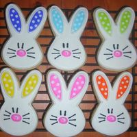 Bunnies.. Some of the cookies I did for a local fundraiser. Inspired by Cookies by Design. Trying to get a headstart on Easter. NF with royal.