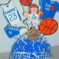 B'ball Bouquet... Here is one of the bouquets I did for a local school's sports banquet. NF with royal.