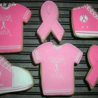 Walk For The Cure... Some of the cookies I did for a local fundraiser. NF with royal.
