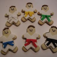 Taekwon Do Cookies- The Sequel Again, thanks to cookiecreations for the inspiration. These are for a fundraiser and I think I improved on the faces from my original...