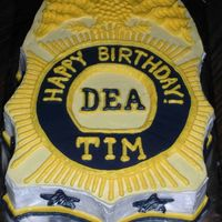 Dea Badge Birthday Cake   Replicated a friend's DEA badge for his birthday in buttercream with some minor changes.