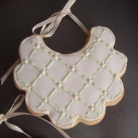 Bb Shower Cookie used NFSC recipe and fondant. royal icing to make the accents