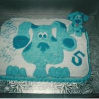 Blues Clues One of my very early on cakes. This is my 1st Blues Clues cake (I have done one more)...Chocolate cake, buttercream frosting and fondant...